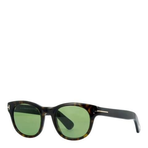 Tom Ford Women's Havana/Green Sunglasses 49mm