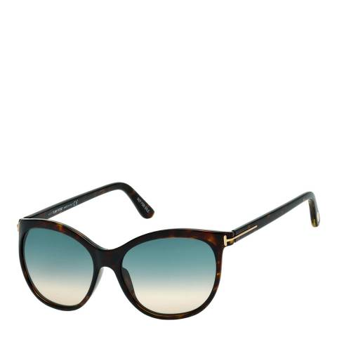 Tom Ford Women's Havana/Green Sunglasses 57mm
