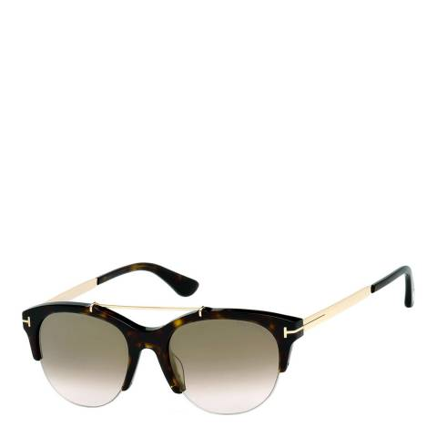 Tom Ford Women's Brown Mirrored Sunglasses 55mm