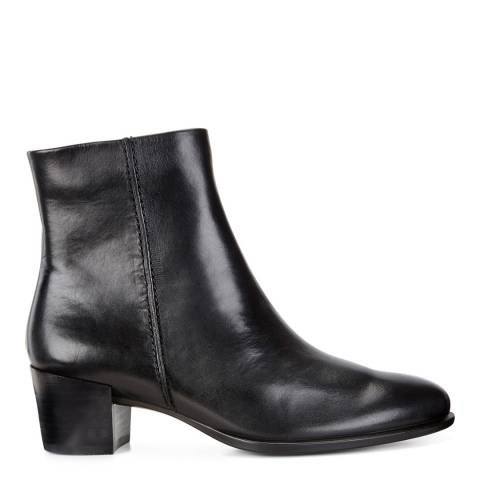 ECCO Black Leather Shape 35 Heeled Ankle Boots