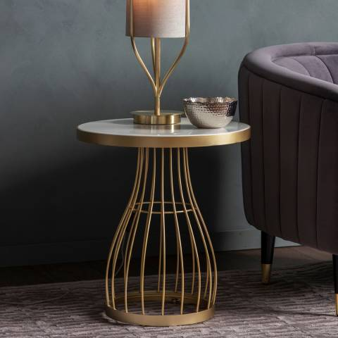 Gallery Southgate Side Table Champagne
