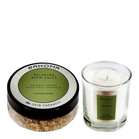 Bahoma Chameleon Bath salt 250g & Candle
