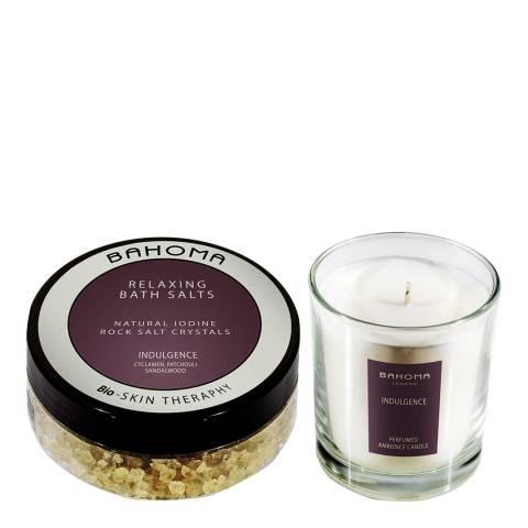 Bahoma Indulgence Bath Salt 250g & Medium Candle