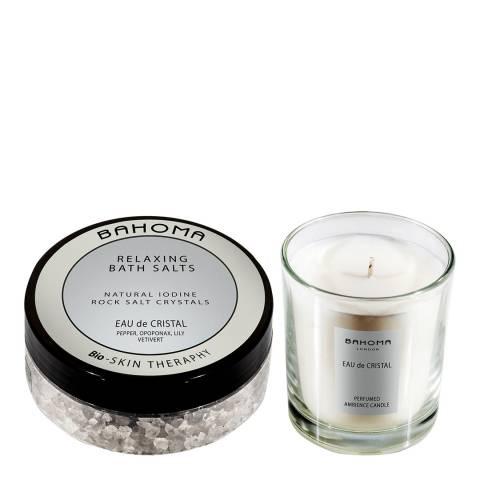 Bahoma Eau de Cristal Bath salt 250g & midium candle