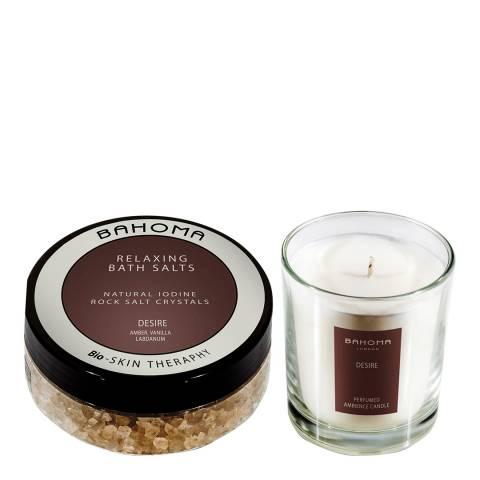 Bahoma Desire Bath Salt 250g & Medium Candle