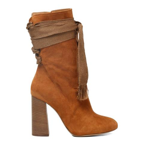 Chloé Ochre Delight Suede Harper Ankle Boots