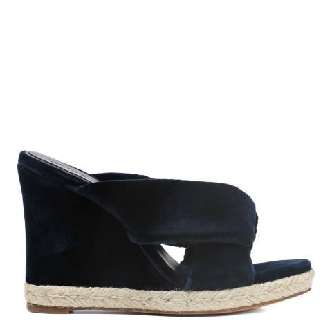 Chloé Blue Lagoon Velvet Nori Heeled Sandals