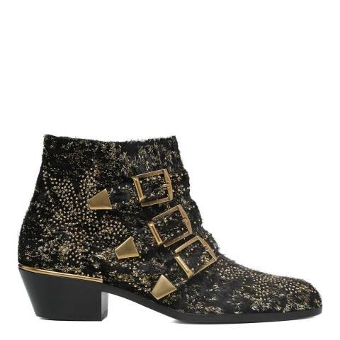 Chloe Black Leather Susanna Short Boots