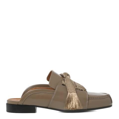 Chloé Baobab Brown Leather Harper Loafer Slides