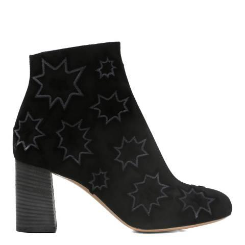 Chloé Black Suede Harper Ankle Boots