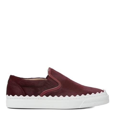 Chloé Purple Red Ivy Slip On Sneakers
