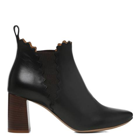 Chloe Black Leather Lauren Ankle Boots