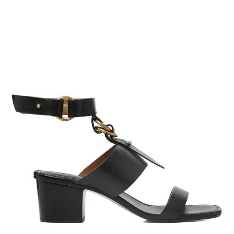 Chloé Black Leather Kingsley Heeled Sandals