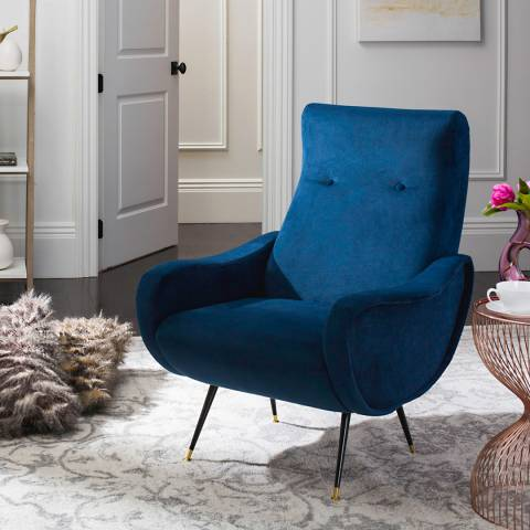 Safavieh Archer Accent Chair, Navy