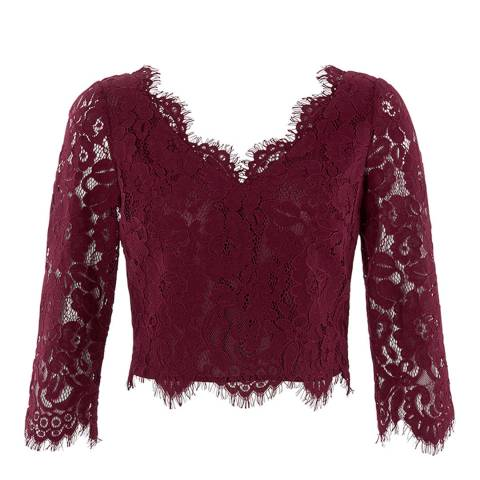 Coast Burgundy Tina Lace Top