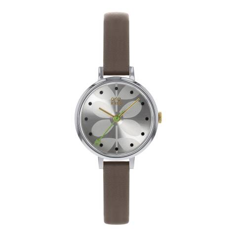 Orla Kiely Cream Dial Stem Print and Warm Grey Ivy Watch