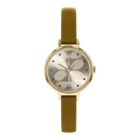 Orla Kiely Cream Dial Stem Print Pale Olive Ivy Watch