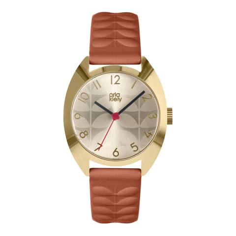 Orla Kiely Cream Dial Subtle Stem Print Beatrice Watch
