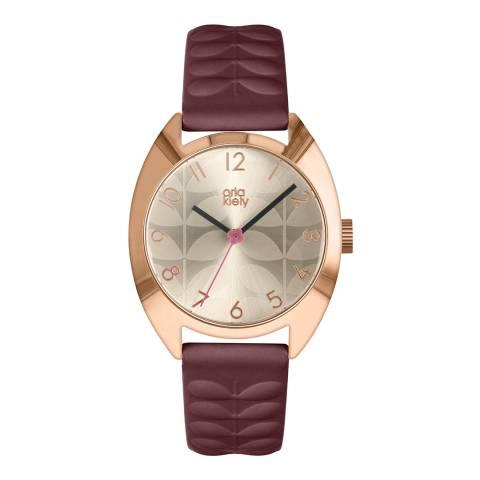 Orla Kiely Cream Dial Subtle Stem Print Beatrice Watch