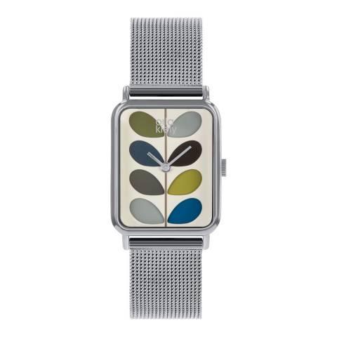 Orla Kiely Cream Dial & Bracelet Strap Stem Watch