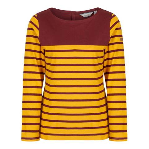 Regatta Burgundy Stripe Faizah Top