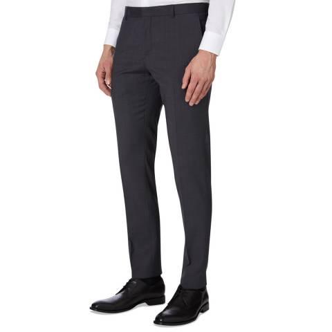 Calvin Klein Charcoal Paris Modern Wool Trousers