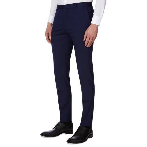 Calvin Klein Navy Pittsburgh Stretch Wool Trousers