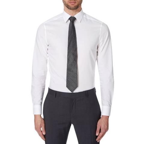 Calvin Klein White Walker Stretch Cotton Shirt