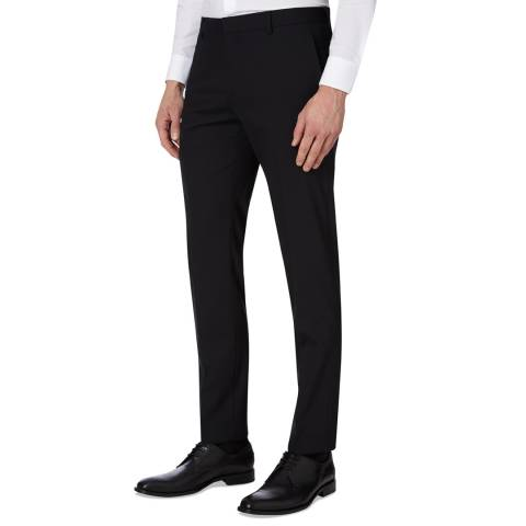 Calvin Klein Black Paris Stretch Wool Trousers