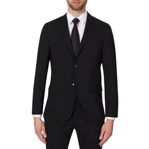 Calvin Klein Black Tate Stretch Wool Jacket