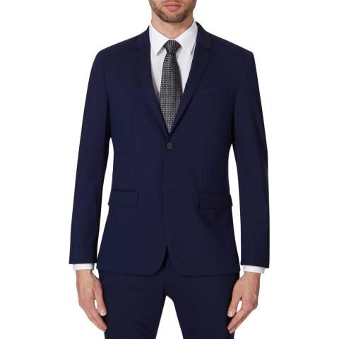 Calvin Klein Navy Tate Stretch Wool Jacket