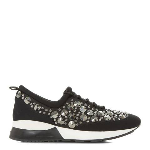 Dune Black Metallic Enigma Embellished Trainers