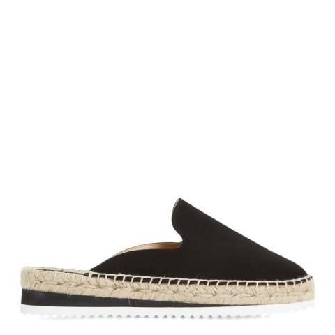 Dune London Black Suede Geniee Espadrille Shoes