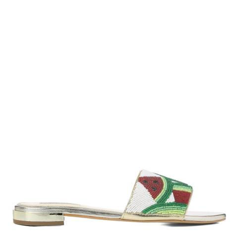 Dune London Watermelon Beaded Lafayette Slider Sandals