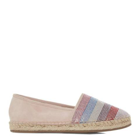 Dune London Multi Metallic Graci Diamante Espadrilles