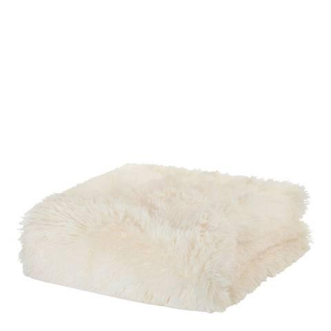 Catherine Lansfield Cuddly Throw, Cream