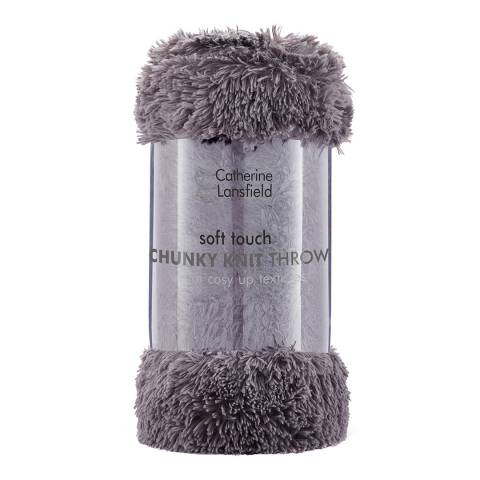 Catherine Lansfield Cuddly Throw, Charcoal