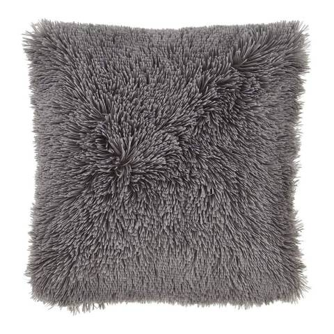 Catherine Lansfield Cuddly Cushion, Charcoal