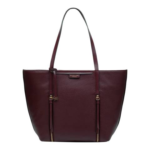Radley Burgundy Large Open Top Tote Shoulder Bag