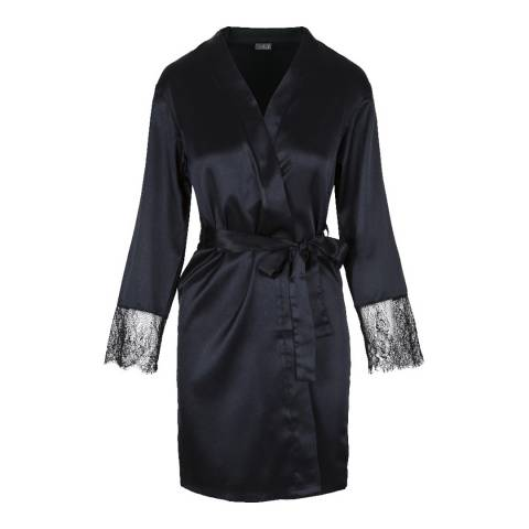 LingaDore Black Precious Love Kimono