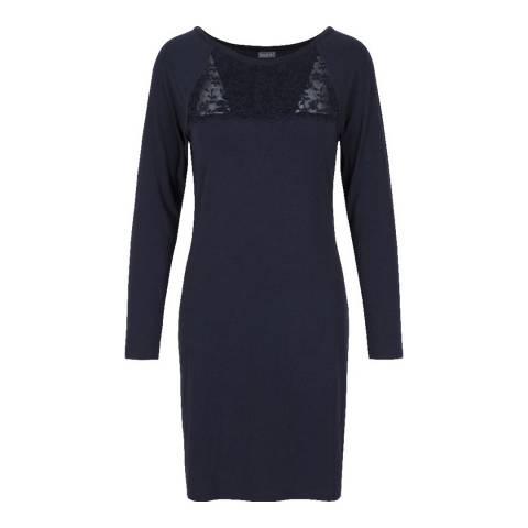LingaDore Dark Blue Moonlight/Fizz Berry Long Sleeve Dress