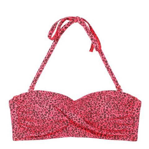 LingaDore Pink Festival Twisted Bandeau Bikini Top