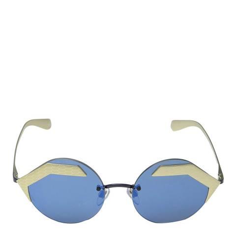 Bvlgari Women's Gold / Blue Sunglasses 55mm