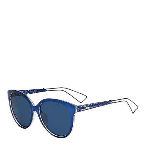 Dior Women's Blue Square Shape Sunglasses 58mm