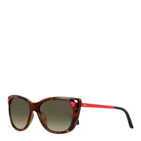 Dior Women's Brown / Red Sunglasses 56mm