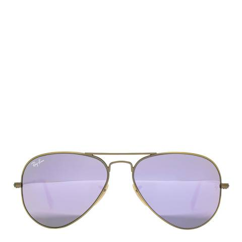Ray-Ban Men's Bronze / Lilac Aviator Sunglasses 58mm