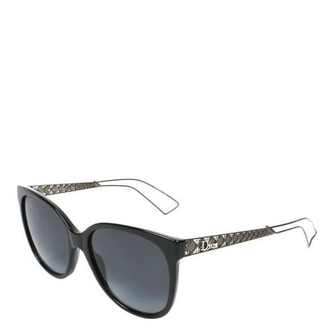 Dior Women's Black / Grey Cat Eye Sunglasses 55mm