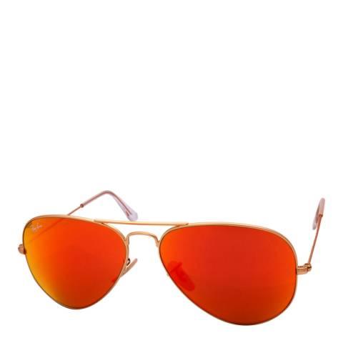 Ray-Ban Women's Gold / Orange Aviator Sunglasses 58mm