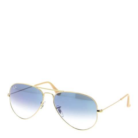 Ray-Ban Unisex Gold / Blue Aviator Sunglasses 58mm