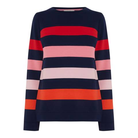 Oasis Multi Colourful Stripe Sweatshirt